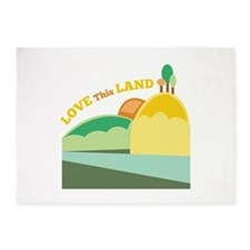 Love This Land 5'x7'Area Rug