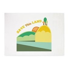 Save This Land 5'x7'Area Rug