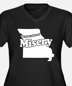 The Great State of Misery Women's Plus Size V-Neck