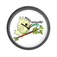 Woot For Spring Wall Clock