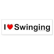 Swinging Bumper Sticker