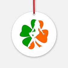 Hot Irish Girl 3 Ornament (Round)