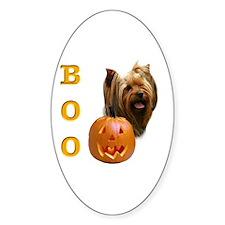 Yorkie Boo Oval Decal