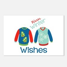 Warm winter sweaters Postcards (Package of 8)