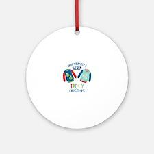 Very Tacky Christmas Ornament (Round)