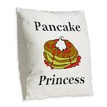 Pancake Princess Burlap Throw Pillow