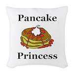 Pancake Princess Woven Throw Pillow