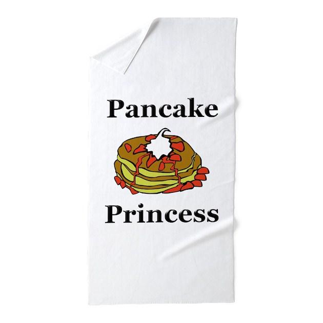 Monogrammed Princess Beach Towel: Pancake Princess Beach Towel By NiftyFolks
