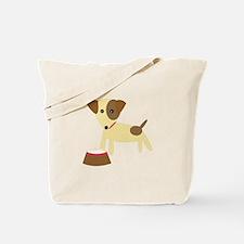 Dog & Bowl Tote Bag