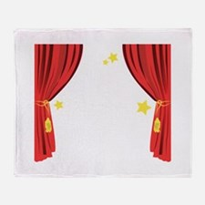 Stage Curtain Throw Blanket