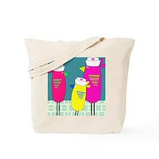 Whimsical Nurse Birds Tote Bag