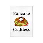 Pancake Goddess 5'x7'Area Rug