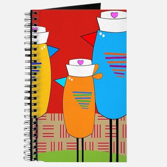 Whimsical Nurse Birds Journal