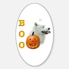 Samoyed Boo Oval Decal