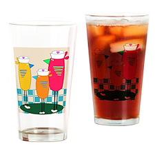Whimsical Nurse Birds Drinking Glass