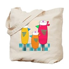 Whimsical Nurse Birds Tote Bag
