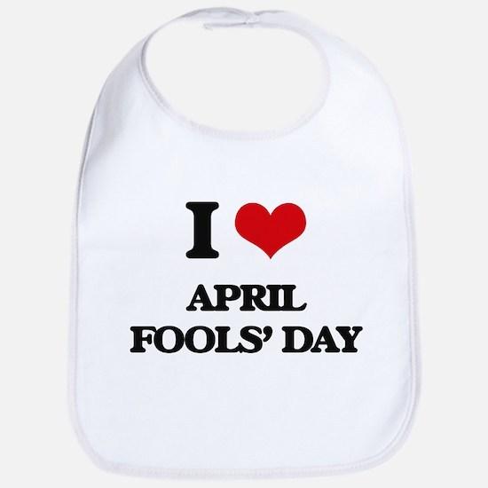 I Love April Fools' Day Bib
