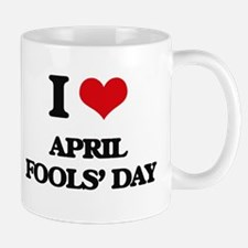 I Love April Fools' Day Mugs