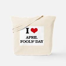 I Love April Fools' Day Tote Bag