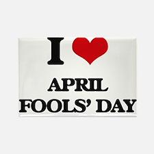 I Love April Fools' Day Magnets