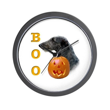 Deerhound Boo Wall Clock