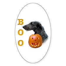 Deerhound Boo Oval Decal