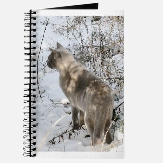 Burmese Cat in snow Journal