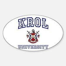 KROL University Oval Decal