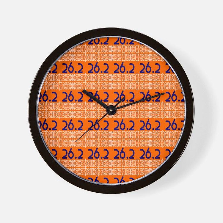 Marathon Typography Wall Clock