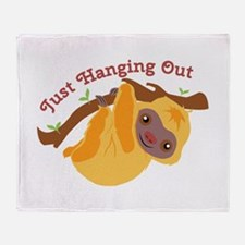 Hanging Out Throw Blanket
