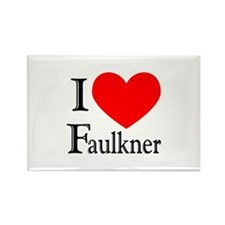 I Love Faulkner Rectangle Magnet