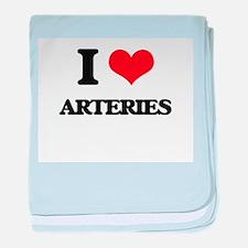 I Love Arteries baby blanket