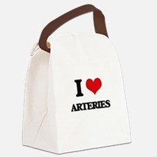 I Love Arteries Canvas Lunch Bag
