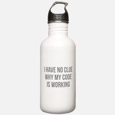 I Have No Clue Why My Code Is Working Water Bottle
