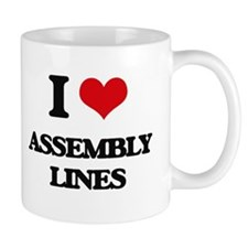 I Love Assembly Lines Mugs