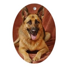 Cute Dog for humans Ornament (Oval)