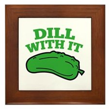 Dill With It Framed Tile