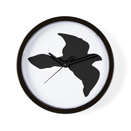Flying Bird Icon Wall Clock