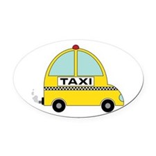 Taxi Oval Car Magnet
