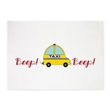 Honking Taxi 5'x7'Area Rug