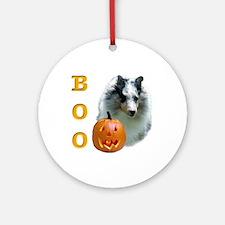 Sheltie(mrl) Boo Ornament (Round)
