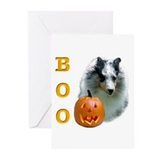 Sheltie(mrl) Boo Greeting Cards (Pk of 10)
