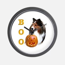 Sheltie(sbl) Boo Wall Clock