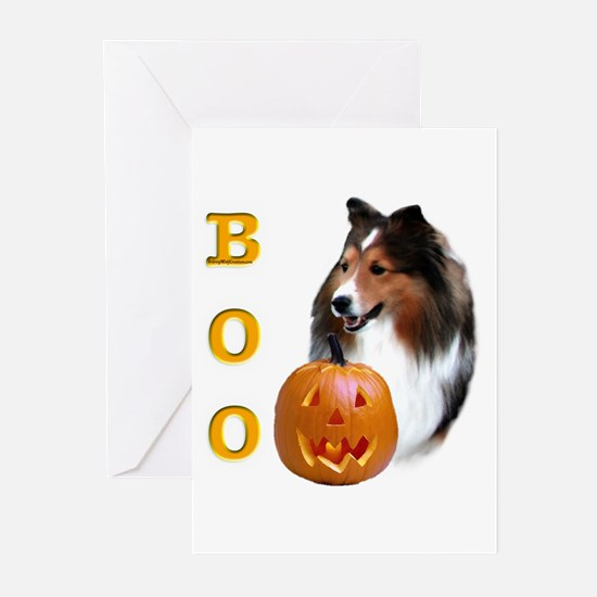 Sheltie(sbl) Boo Greeting Cards (Pk of 10)