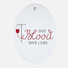 Give Blood Ornament (Oval)