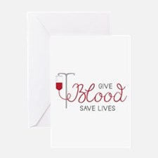 Give Blood Greeting Cards