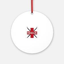 Ski Rescue Ornament (Round)