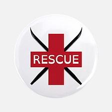 """Ski Rescue 3.5"""" Button"""