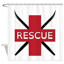 Ski Rescue Shower Curtain