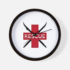 Ski Rescue Wall Clock
